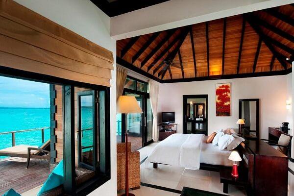 Inside Water Villa at Sun Siyam Iru Fushi