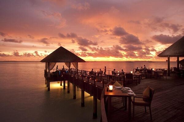Sunset Dinner at Sun Siyam Iru Fushi Resort Maldives